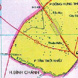 Quy hoạch 1/2000 Khu dân cư Tân Thới Nhất (khu 2), quận 12
