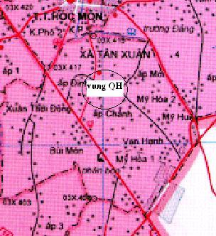 TP HCM: Quy hoạch chi tiết 1/2000 khu dân cư Tân Xuân, Hóc Môn
